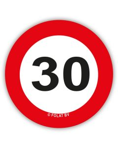 30 Jaar - XL Confetti Verkeersbord