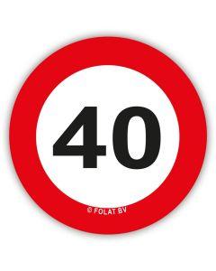 40 Jaar - XL Confetti Verkeersbord