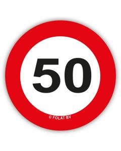 50 Jaar - XL Confetti Verkeersbord