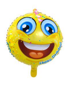 Folieballon Emoticon Happy Birthday - 45CM