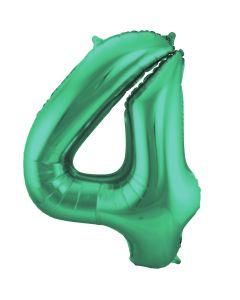 Folieballon Mat Groen Cijfer 4-86 cm