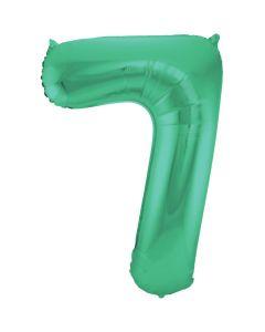 Folieballon Mat Groen Cijfer 7-86 cm
