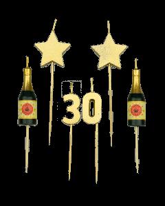 30 Jaar - Taart Kaarsjes Goud