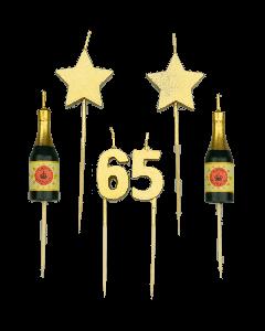 65 Jaar - Taart Kaarsjes Goud