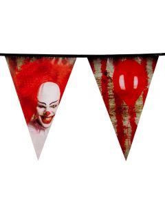 Halloween Vlaggenlijn Horror Clown