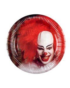 Bordjes Halloween Horror Clown - 6Stuks