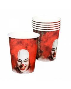 Bekertjes Halloween Horror Clown - 6Stuks