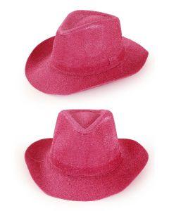 Cowboyhoed pink glitter