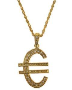 Gouden Gangster Ketting - Euroteken