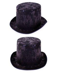 Zwarte Hoge Hoed Antiek Look