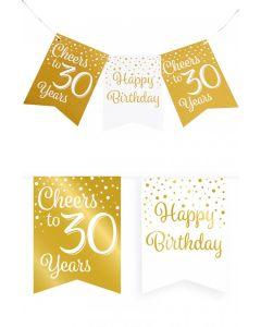 30 Jaar - Vlaggenlijn Vaandel Goud/Wit