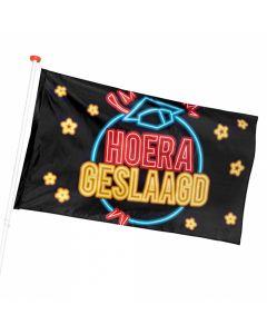 Geslaagd Hoera - Polyester Vlag