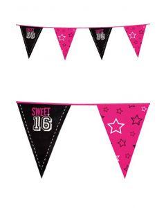 Vlaggenlijn 6 mtr  Sweet 16