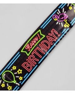 NEON afzetlint Happy Birtday