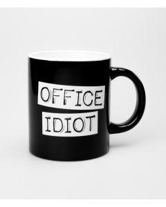 Mok OFFICE IDIOT Black & White