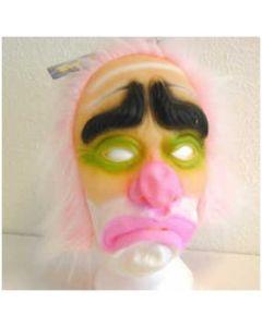 Masker clown met roze haar