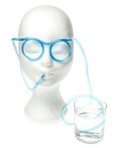 Drinkbril met rietje