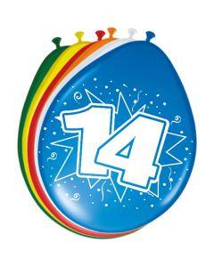 Leeftijdballon 14 Jaar 8 Stuks
