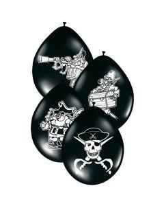 Piraten Ballonnen Latex 8 Stuks
