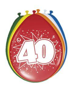 Leeftijdballonnen 40 Jaar 8 Stuks