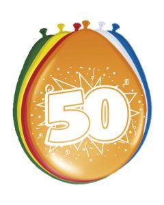 Leeftijdballonnen 50 Jaar 8 Stuks