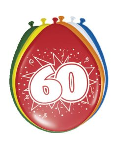 Leeftijdballonnen 60 Jaar 8 Stuks