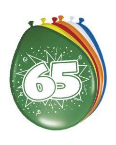 Leeftijdballonnen 65 Jaar 8 Stuks