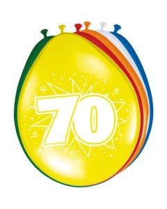 Leeftijdballonnen 70 Jaar 8 Stuks