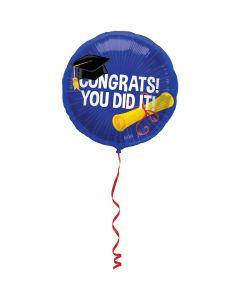 Folieballon Geslaagd Congrats - 45 CM