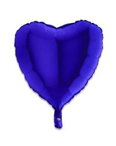 Folieballon Hart Capriblauw 46CM