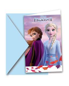6 uitnodigingen Frozen II