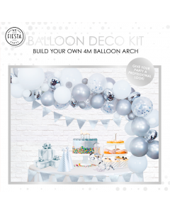 Ballon Zilver Decoratie Kit
