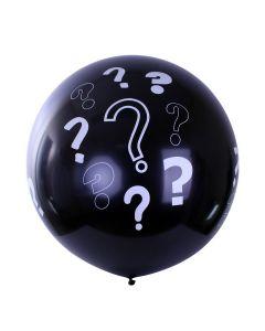 Megaballon zwart GENDER REVEAL 36 inch