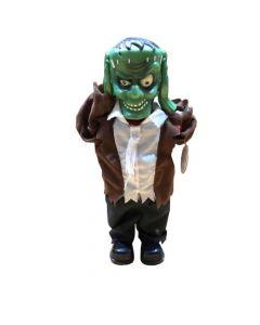 Green Zombie Met Lifting Head Met Licht En Geluid