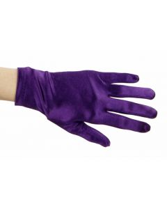 Satijnen Handschoenen paars ( 20 cm )