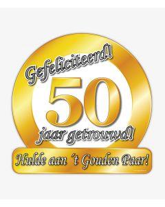 50 Jaar Getrouwd - Huldeschild Special