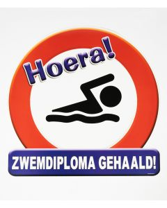 Zwemdiploma Gehaald - Huldeschild