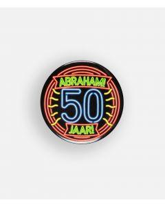 NEON Button Abraham 50