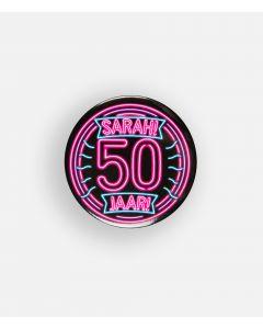 NEON Button Sarah