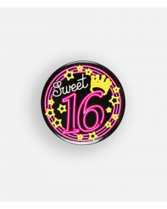 NEON Button Sweet 16