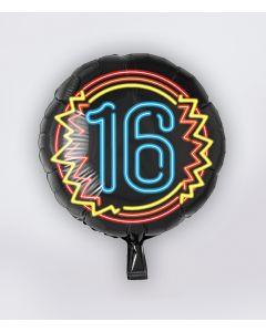 16 Jaar NEON Folie Ballon