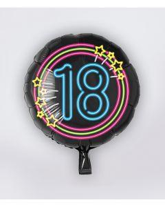 NEON Folie Ballon 18 jaar