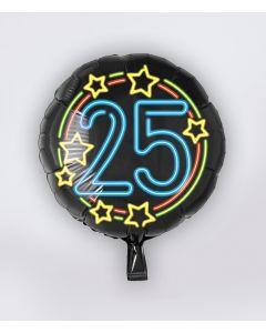 NEON Folie Ballon 25 jaar