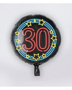 NEON Folie ballon 30 jaar