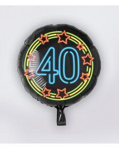 NEON Folie Ballon 40 jaar