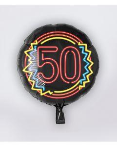 NEON Folie Ballon 50 jaar