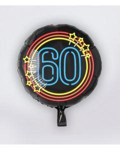 NEON Folie Ballon 60 jaar