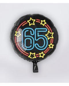 NEON Folie Ballon 65 jaar