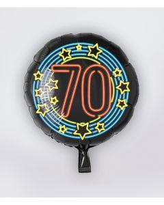NEON Folie Ballon 70 jaar