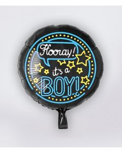 NEON Folie Ballon Its a Boy